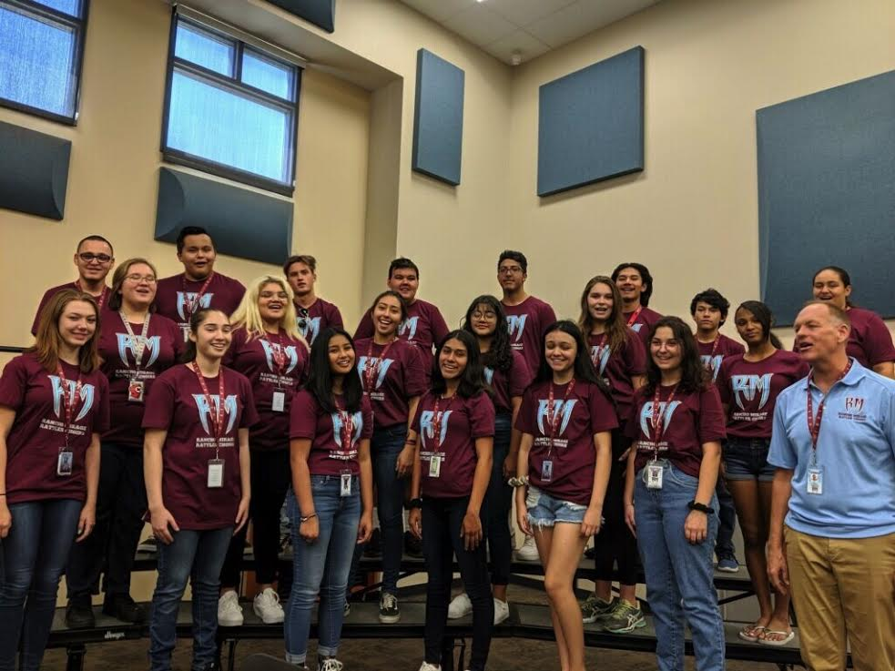 Picture of the Choir at Rancho Mirage High School, Rancho Mirage CA. The International Opera Institute will be performing An Evening Of Broadway as a fundraiser on February 12, 2020 for the Choir and Football team at Rancho Mirage High School. Dinner will be provided by Mario's Italian Cafe.